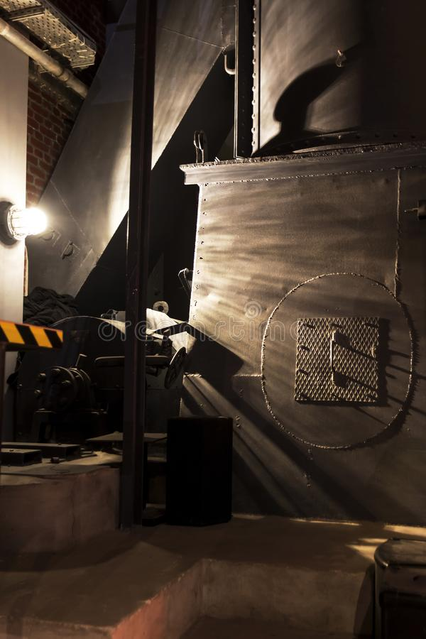 εκκλησιών διαγώνιος γοτθικός υπόγειος θάλαμος θεών της Πολωνίας ραβδωτός Εσωτερικό της έγερσης Βαρσοβία μουσείων στοκ φωτογραφία με δικαίωμα ελεύθερης χρήσης