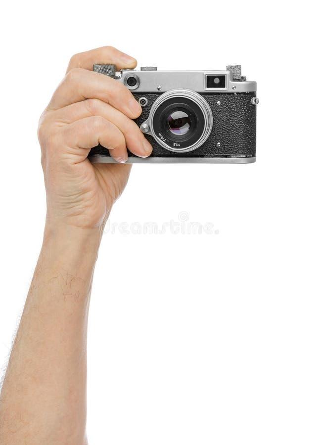 Εκλεκτής ποιότητας κάμερα φωτογραφιών υπό εξέταση στοκ φωτογραφίες