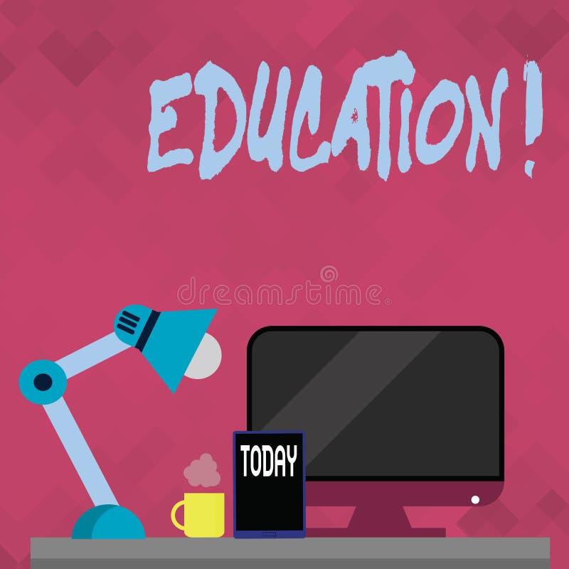 Εκπαίδευση κειμένων γραψίματος λέξης Επιχειρησιακή έννοια για τη διδασκαλία των σπουδαστών από την εφαρμογή της πιό πρόσφατης τεχ διανυσματική απεικόνιση