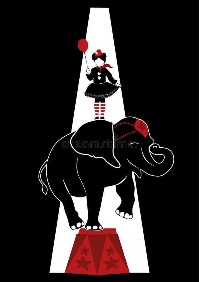 Ελέφαντας σε ένα βάθρο στοκ εικόνες