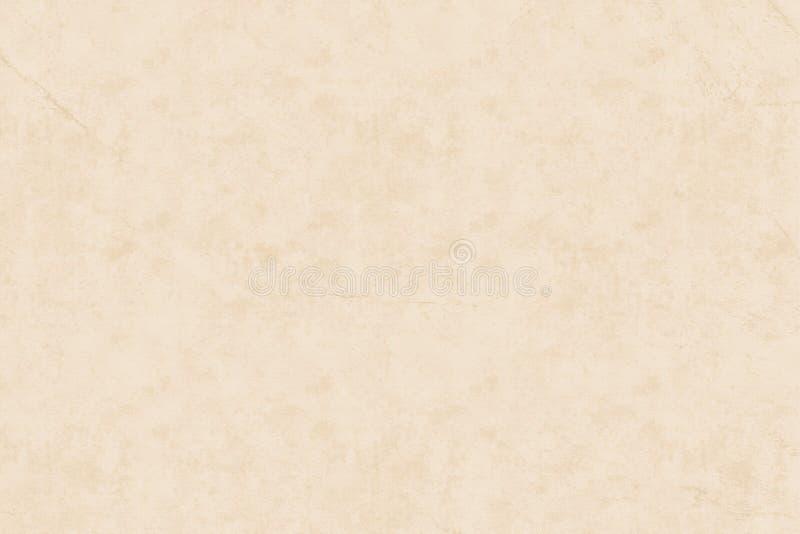 Ελαφρύ μπεζ κατασκευασμένο υπόβαθρο τοίχων grunge παλαιό Ελαφρύ σαφές έγγραφο με την αφηρημένη σύσταση grunge για το υπόβαθρο ιστ ελεύθερη απεικόνιση δικαιώματος