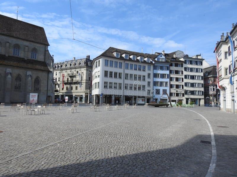 Ελβετική παλαιά πόλη της Ζυρίχης στοκ εικόνα