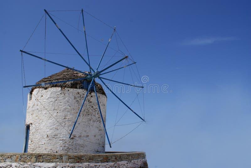 Ελλάδα, το νησί Ios, ένας ανεμόμυλος στοκ εικόνες