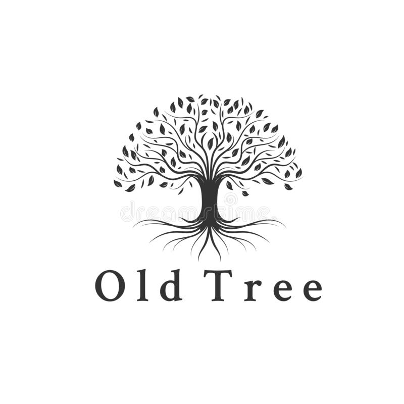 Εμπνεύσεις σχεδίων λογότυπων δέντρων, ρίζα, φύλλο απεικόνιση αποθεμάτων