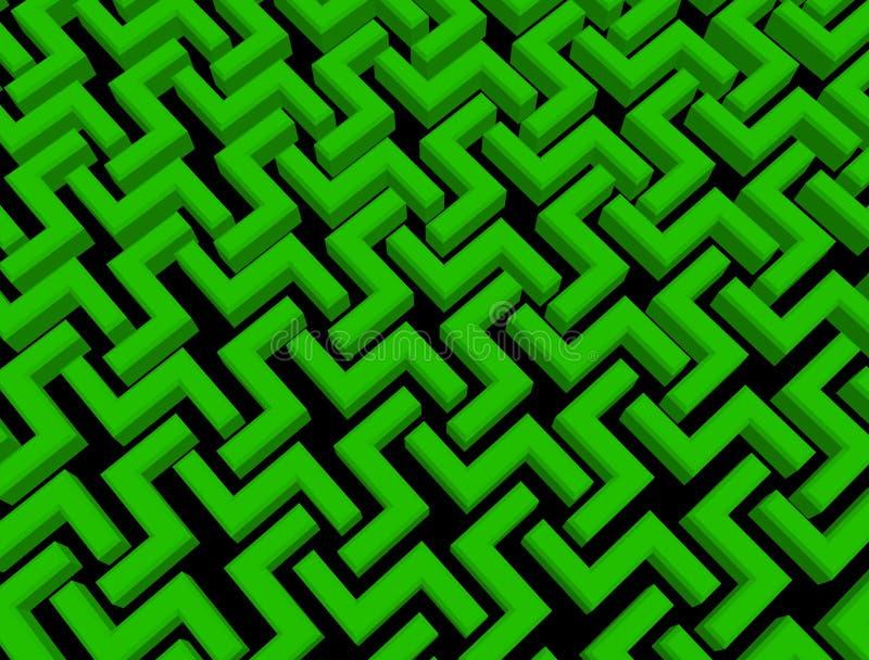 Εμποδίζει backgrond πράσινο με το Μαύρο καθιστά αφηρημένος στοκ εικόνες