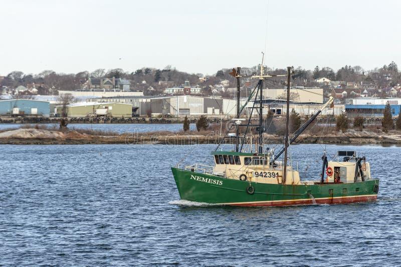 Εμπορικός τίτλος Νέμεσης αλιευτικών σκαφών έξω στοκ φωτογραφία με δικαίωμα ελεύθερης χρήσης