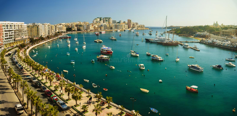 Εναέρια άποψη σε Sliema, Μάλτα στοκ εικόνες με δικαίωμα ελεύθερης χρήσης