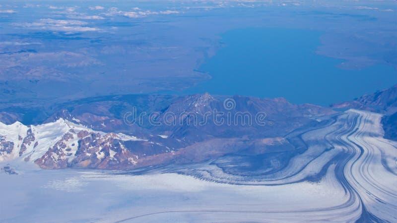 Εναέρια άποψη της περιοχής παγετώνων χώρων Punta στη Χιλή στοκ εικόνες με δικαίωμα ελεύθερης χρήσης