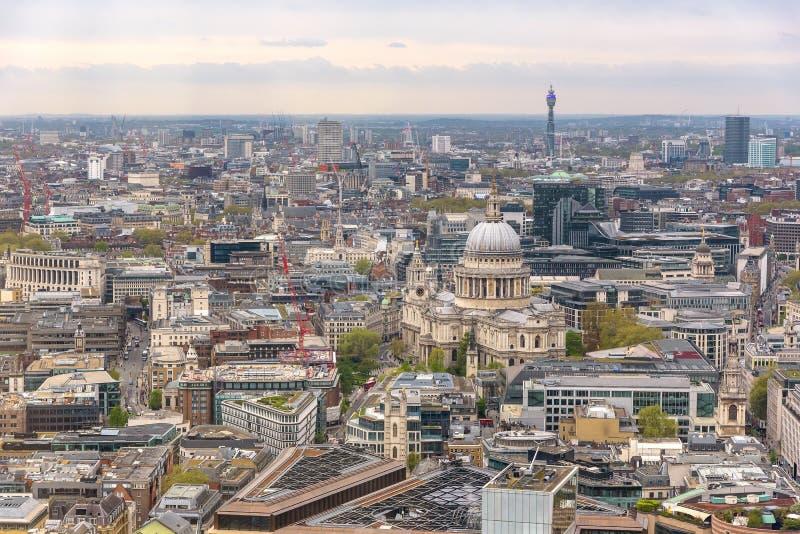 Εναέρια άποψη του Λονδίνου κεντρικός στοκ εικόνα