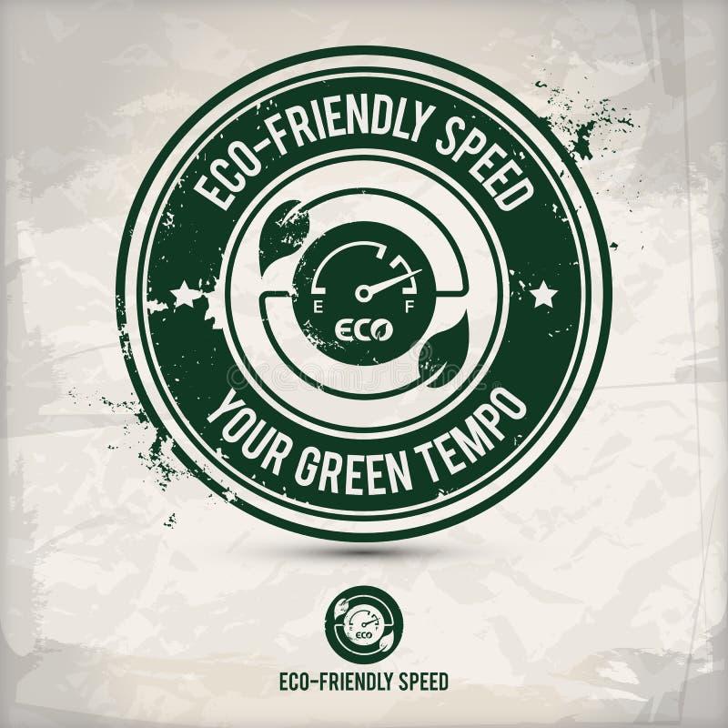 Εναλλακτικό γραμματόσημο πινάκων αυτοκινήτων eco φιλικό ελεύθερη απεικόνιση δικαιώματος