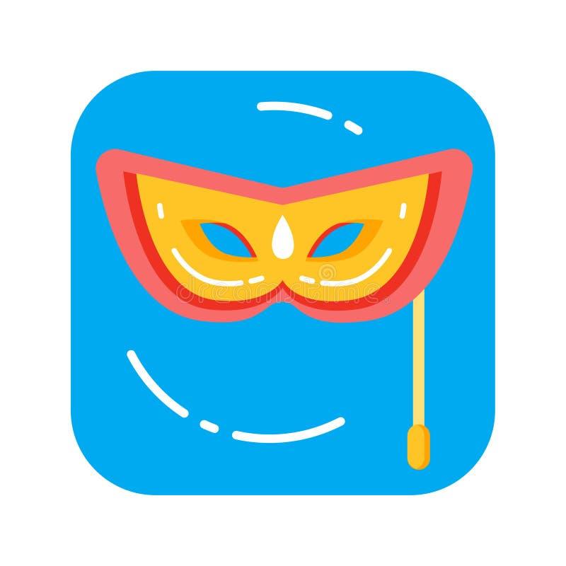 Ενετική χρωματισμένη του προσώπου μάσκα καρναβαλιού για μια διακοσμημένη κόμμα έννοια απεικόνιση αποθεμάτων