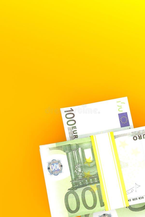 εννοιολογικό ευρώ πενήντα πέντε δέκα νομίσματος τραπεζογραμματίων διανυσματική απεικόνιση