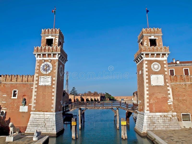 Εντυπωσιακό Arsenale στη Βενετία στοκ φωτογραφία