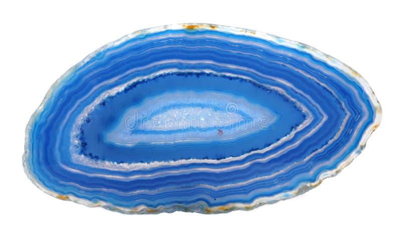 Ενωμένο μπλε δείγμα αχατών στοκ φωτογραφίες