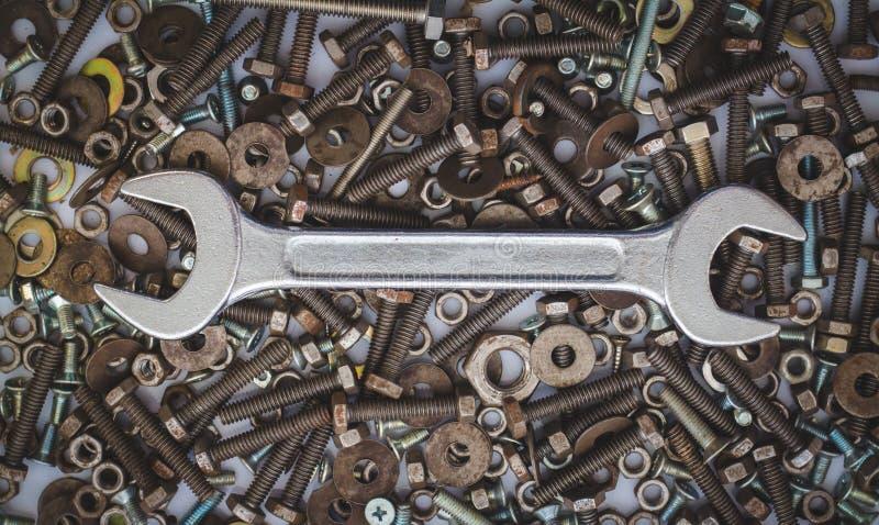Εξοπλισμός εργαλείων γαλλικών κλειδιών στοκ φωτογραφία με δικαίωμα ελεύθερης χρήσης