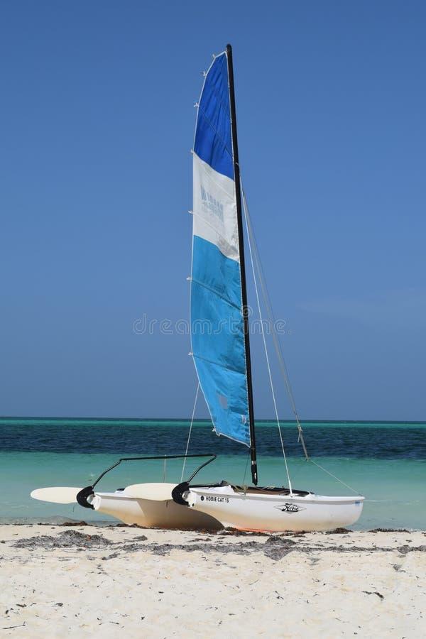 Εξωτικός αθλητισμός σε μια εξωτική παραλία στην Κούβα στοκ εικόνα