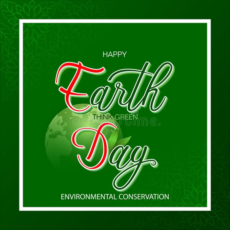 Εορτασμός της περιβαλλοντικής συντήρησης, γήινη ημέρα ελεύθερη απεικόνιση δικαιώματος