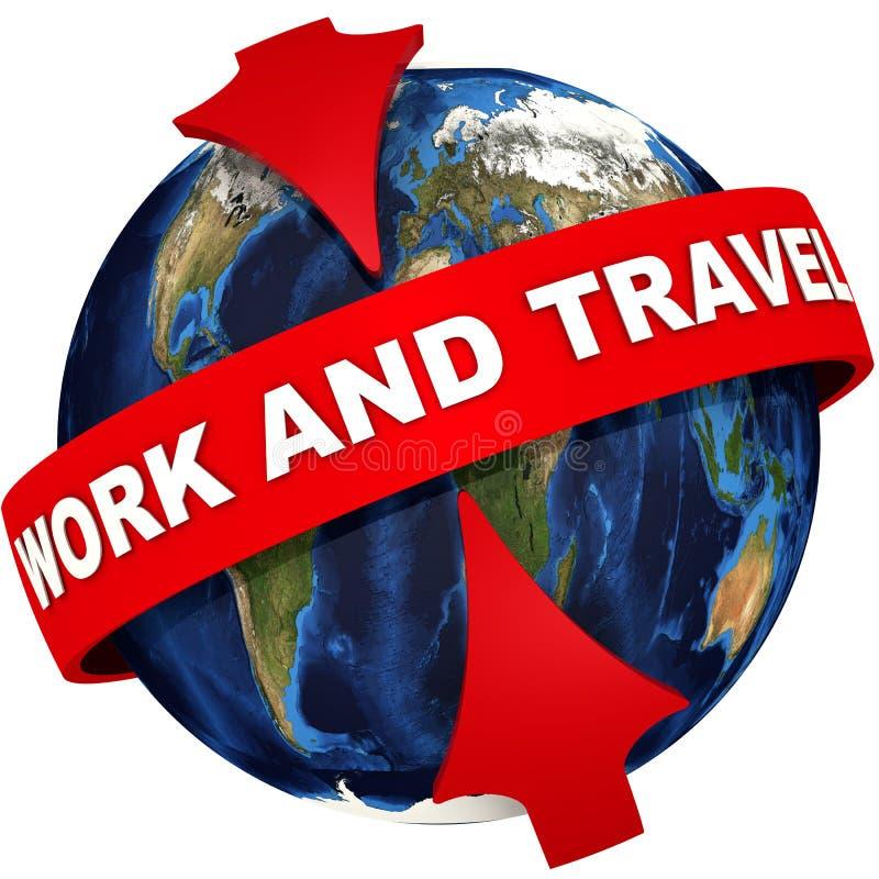 Εργασία και ταξίδι ελεύθερη απεικόνιση δικαιώματος