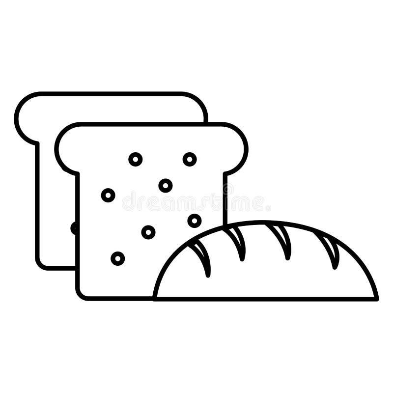 Εύγευστες ψωμί και φρυγανιά ελεύθερη απεικόνιση δικαιώματος