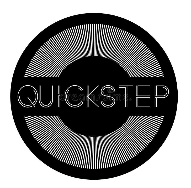 Ετικέτα Quickstep στο λευκό απεικόνιση αποθεμάτων
