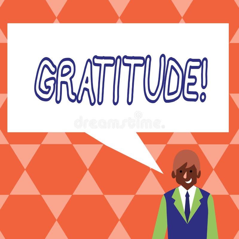 Ευγνωμοσύνη κειμένων γραφής Η έννοια που σημαίνει την ποιότητα της ύπαρξης ευγνώμων ευγνωμοσύνη εκτίμησης αναγνωρίζει διανυσματική απεικόνιση