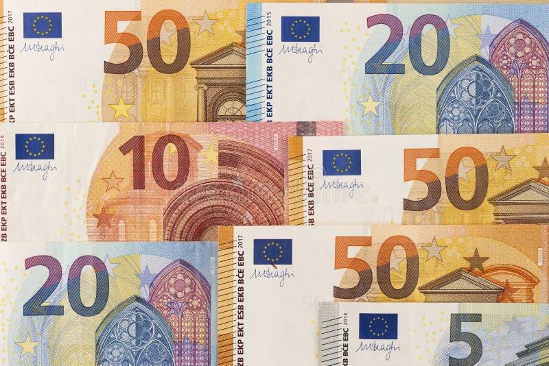 Ευρωπαϊκό ευρο- νόμισμα τραπεζογραμματίων από τα ευρώ της Ευρώπης στοκ φωτογραφία με δικαίωμα ελεύθερης χρήσης
