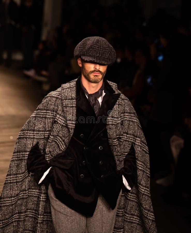 Επίδειξη μόδας πτώσης του 2019 των ατόμων του Joseph Abboud ως τμήμα της εβδομάδας μόδας της Νέας Υόρκης στοκ εικόνες
