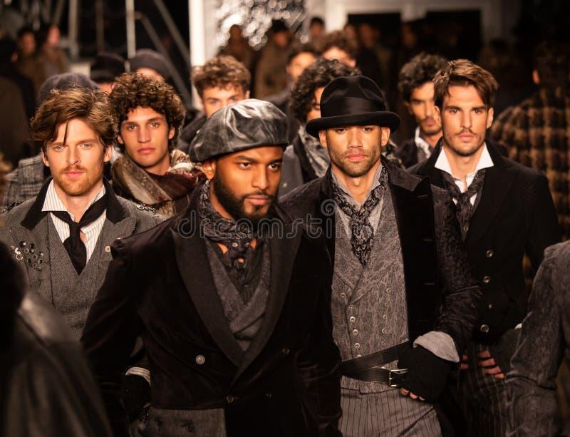Επίδειξη μόδας πτώσης του 2019 των ατόμων του Joseph Abboud ως τμήμα της εβδομάδας μόδας της Νέας Υόρκης στοκ εικόνες με δικαίωμα ελεύθερης χρήσης