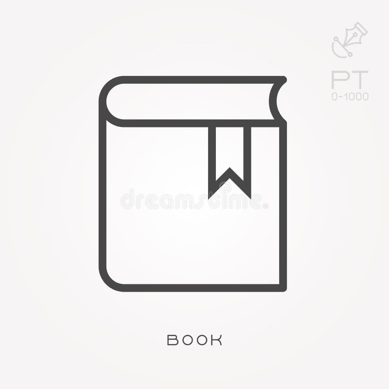 Επίπεδα διανυσματικά εικονίδια με το βιβλίο απεικόνιση αποθεμάτων