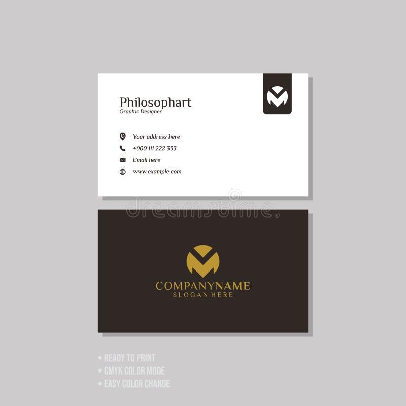 Επαγγελματικό σύγχρονο απλό πρότυπο επαγγελματικών καρτών απεικόνιση αποθεμάτων