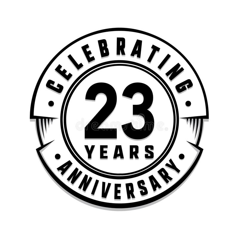 23 επετείου έτη προτύπων λογότυπων 23$ο διάνυσμα και απεικόνιση απεικόνιση αποθεμάτων