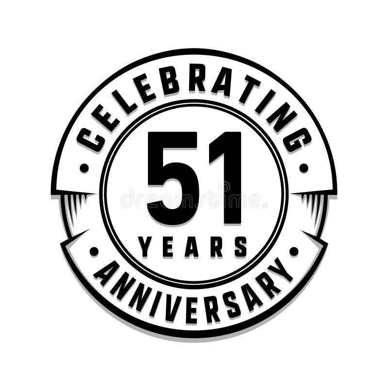 51 επετείου έτη προτύπων λογότυπων 51$ο διάνυσμα και απεικόνιση ελεύθερη απεικόνιση δικαιώματος