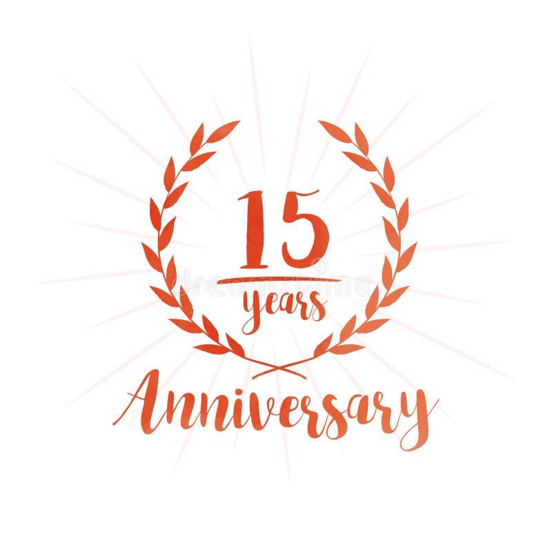 15 επετείου έτη προτύπων σχεδίου Δεκαπέντε επετείου εορτασμού έτη προτύπων σχεδίου ελεύθερη απεικόνιση δικαιώματος