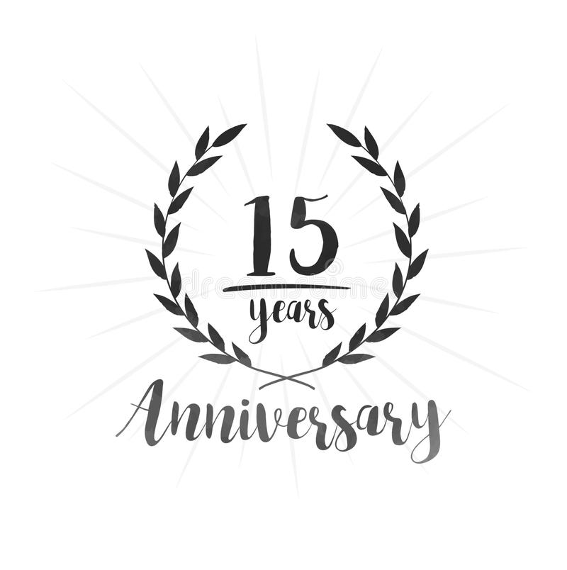 15 επετείου έτη προτύπων σχεδίου Δεκαπέντε επετείου εορτασμού έτη προτύπων σχεδίου απεικόνιση αποθεμάτων