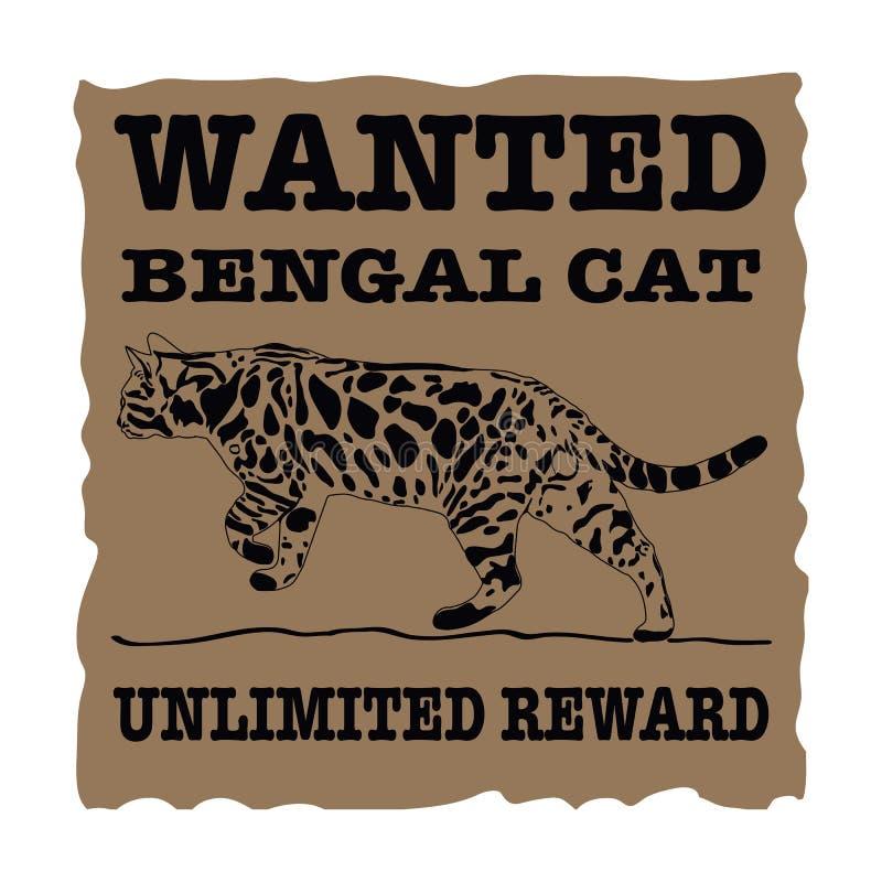 Επιθυμητή γάτα της Βεγγάλης απεικόνιση αποθεμάτων
