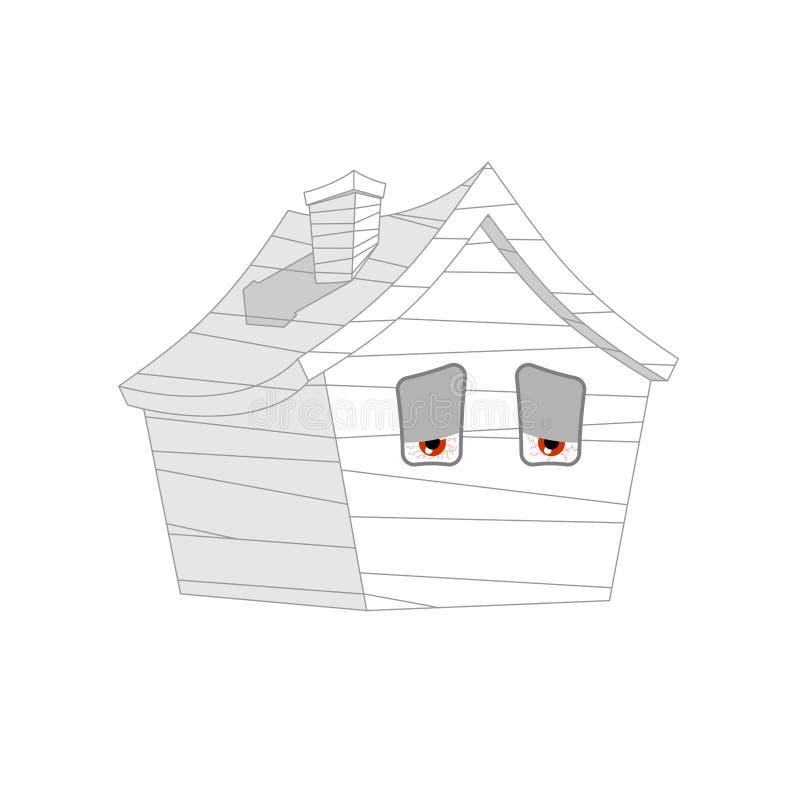Επιδεμένοι σπίτι άρρωστοι ανεπαρκές ύφος εγχώριων κινούμενων σχεδίων Διάνυσμα οικοδόμησης διανυσματική απεικόνιση