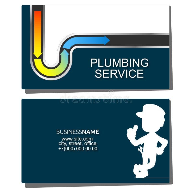 Επισκευή των υδροσωλήνων και της επαγγελματικής κάρτας υδραυλικών διανυσματική απεικόνιση