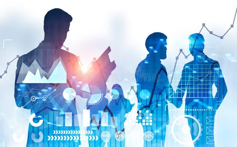 Επιχειρηματίες που τινάζουν τα χέρια, infographics ελεύθερη απεικόνιση δικαιώματος