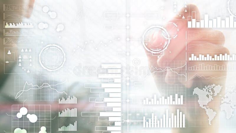 Επιχειρηματική κατασκοπεία Διάγραμμα, γραφική παράσταση, απόθεμα που κάνει εμπόριο, ταμπλό επένδυσης, διαφανές θολωμένο υπόβαθρο διανυσματική απεικόνιση