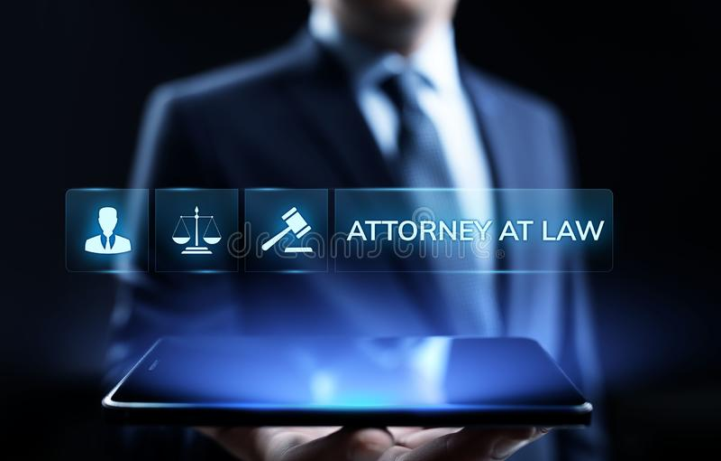Επιχειρησιακή έννοια νομικής συμβουλής υπεράσπισης δικηγόρων πληρεξούσιων στο νόμο στοκ φωτογραφία με δικαίωμα ελεύθερης χρήσης