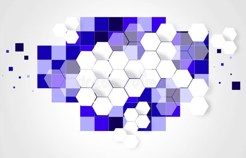 Επιχειρησιακό 2019 μπλε υπόβαθρο διανυσματική απεικόνιση