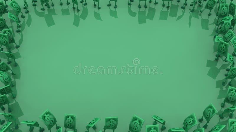 Ζήστε μετρητά, πράσινο πλαίσιο απεικόνιση αποθεμάτων