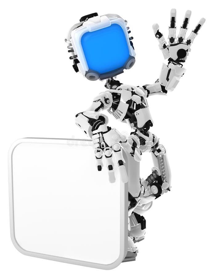 Ζήστε ρομπότ οθόνης, τετραγωνικό σημάδι διανυσματική απεικόνιση