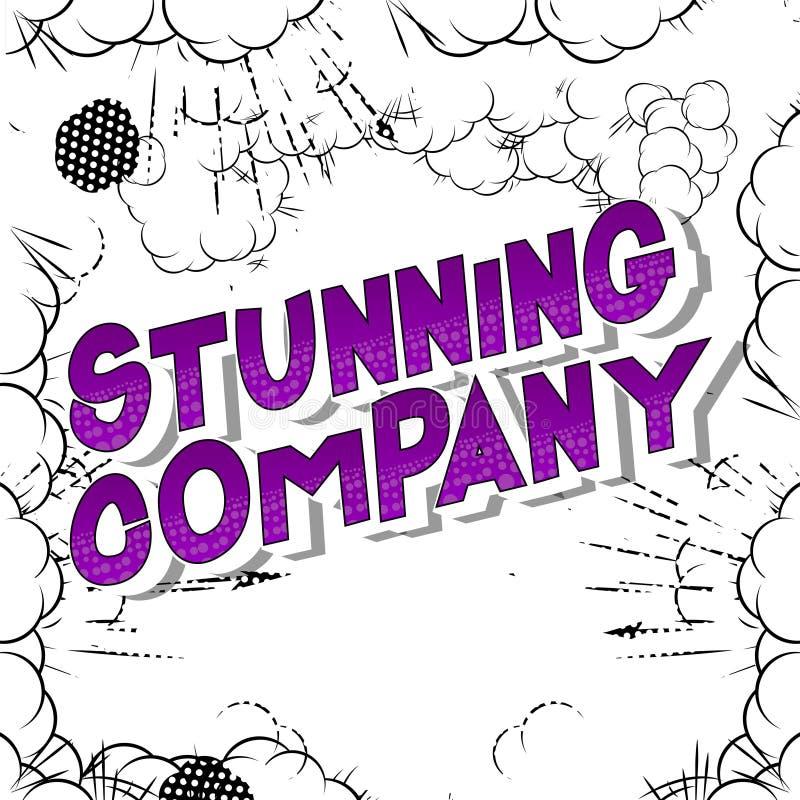 Ζαλίζοντας επιχείρηση - λέξεις ύφους κόμικς απεικόνιση αποθεμάτων