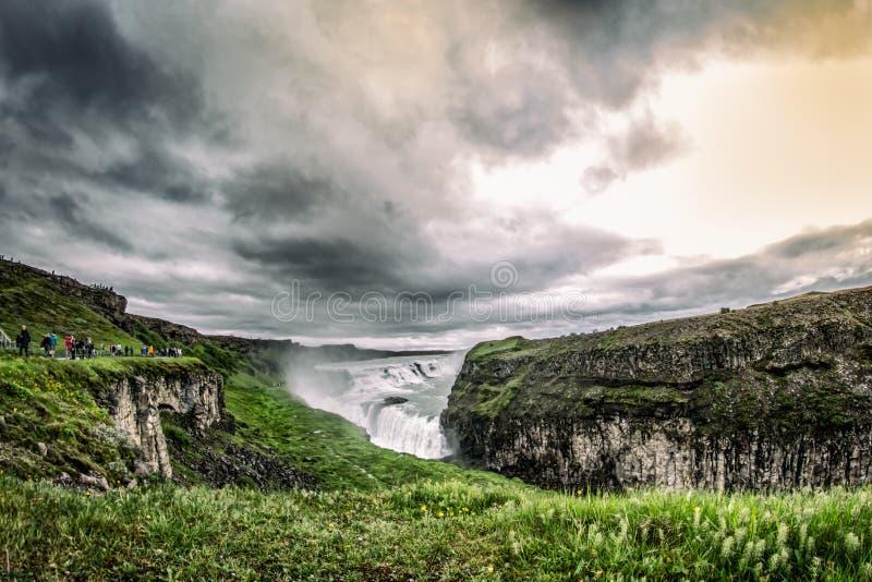 Ζαλίζοντας πτώσεις Gullfoss στοκ φωτογραφίες με δικαίωμα ελεύθερης χρήσης