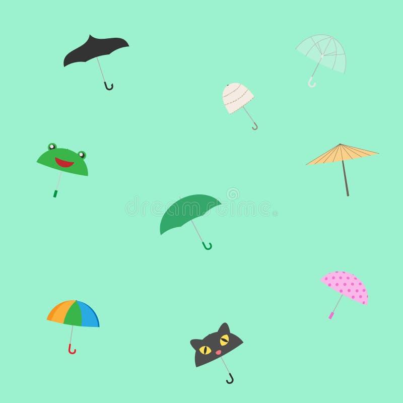 ζωηρόχρωμη ομπρέλα προτύπων ελεύθερη απεικόνιση δικαιώματος