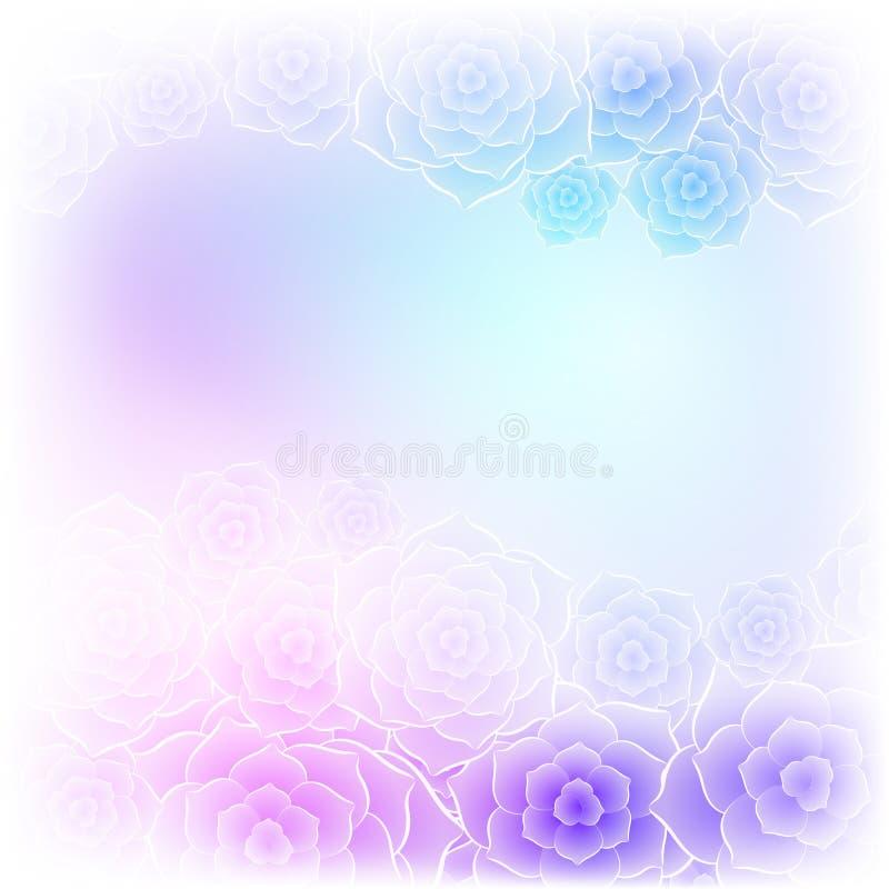 Ζωηρόχρωμος πορφυρός αυξήθηκε υπόβαθρο λουλουδιών για το γαμήλιο σχέδιο απεικόνιση αποθεμάτων
