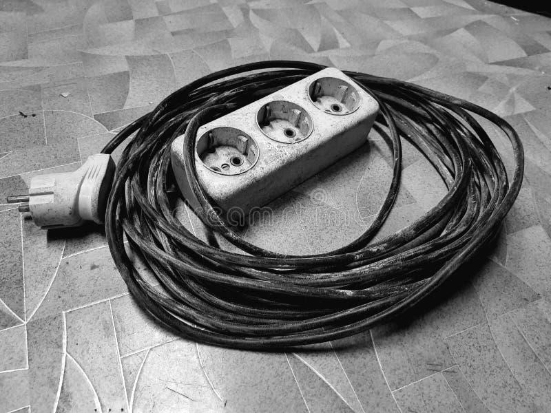 Ηλεκτρική επέκταση για το κεραμωμένο πάτωμα στοκ εικόνα