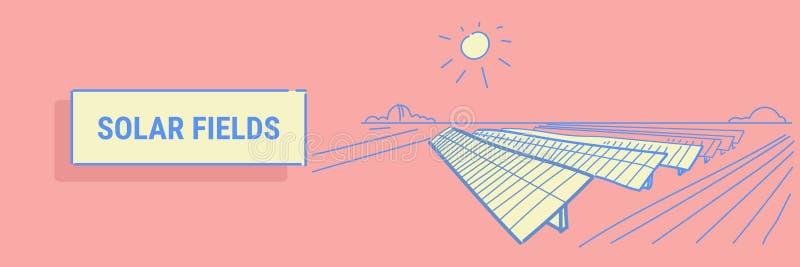 Ηλιακής ενέργειας επιτροπής τομέων ανανεώσιμη σταθμών εναλλακτική ηλεκτρικής ενέργειας πηγής ροή σκίτσων περιοχής έννοιας φωτοβολ απεικόνιση αποθεμάτων