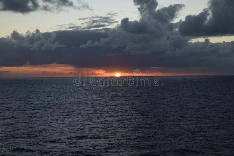 Ηλιοβασίλεμα σε Nasau στοκ εικόνες με δικαίωμα ελεύθερης χρήσης